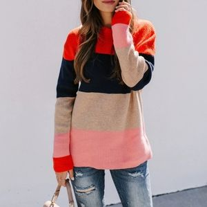 Ellie Colorblock Knit Sweater